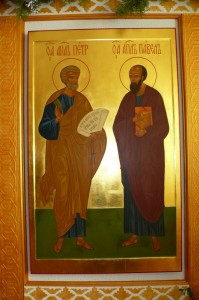 Икона апостолов Петра и Павла в Свято-Троицком храме монастыря