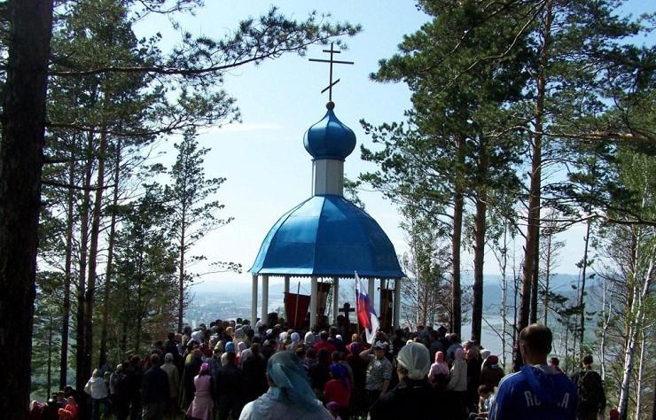 Молебен в часовне на Иоанновой горе