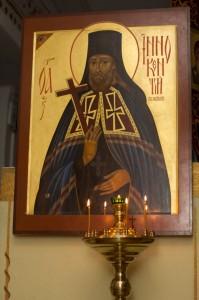 Икона святителя с частицей мощей в Свято-Троицком храме Селенгинского монастыря