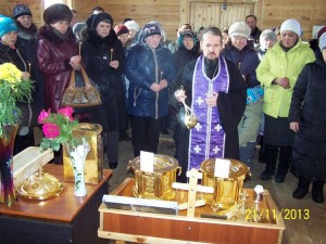 Молебен в храме Святаго Духа. Село Югово